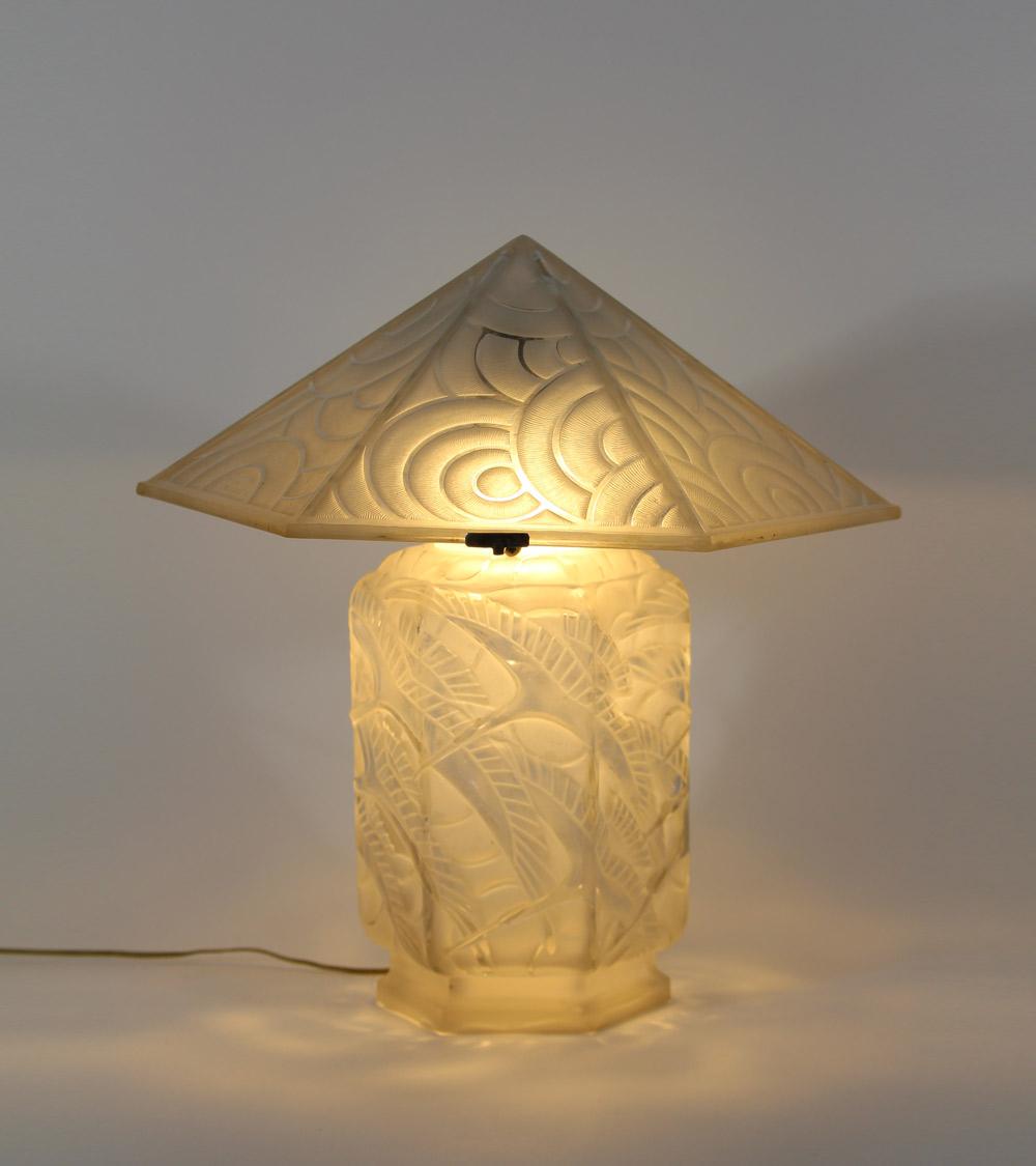 Luminaire Art Deco Lalique Daum Muller