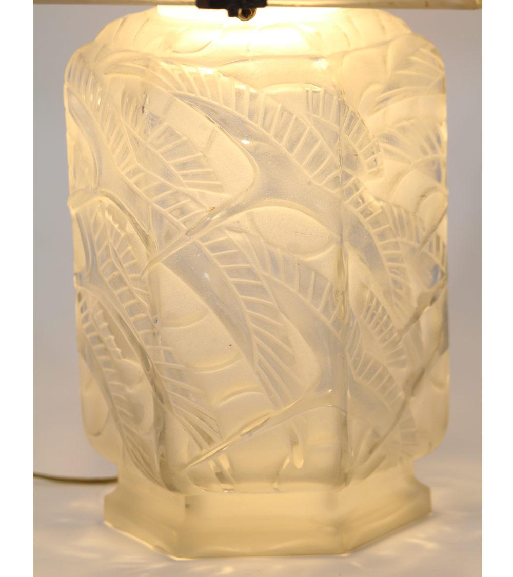 D'Avesn Daum Lalique Lampe Art Déco