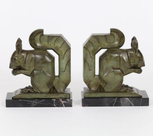 Serre Livres Art Déco bronze ou Régule M Le Verrier G Lavroff E Brandt A Kelety