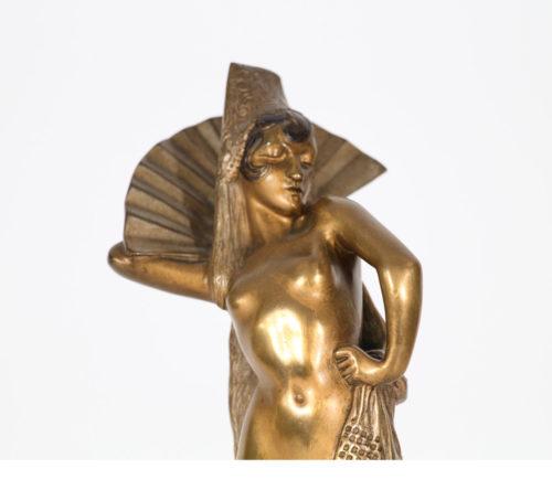 M Guiraud Riviére Danseuses Bronze Art Déco P Philippe P Le Faguays