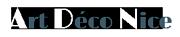Art deco Nice Logo
